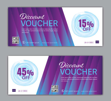 Purple Gift Voucher template luxurious concept, Elegant discount coupon or certificate layout, discount card, Sale banner, headers, banner design, gift card, promotion card, Vector Illustration EPS10