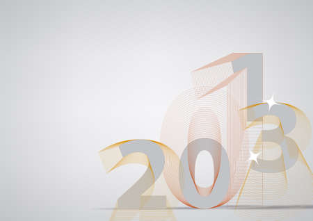 thirteen: Happy new year 2013 - Illustration, card or background