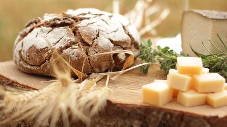 ワインのブルーチーズ ゴーダ パンぶどう食品パルメザン スイス健康フランス牛乳 写真素材