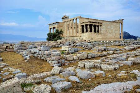 Panoramic view of erecteion temple, athens photo