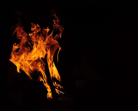 isolated flame photo