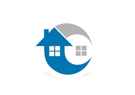 logo recyclage: Accueil arrow boucle logo symbole de conception vecteur