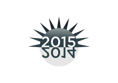 nieuwe jaar 2015 stock grafische vector