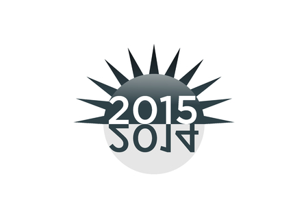 new year 2015 stock graphic vector