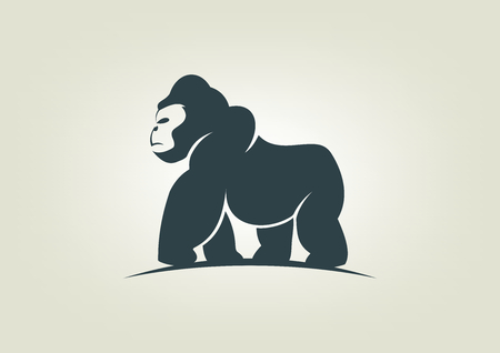 cute cartoon monkey: gorilla icon