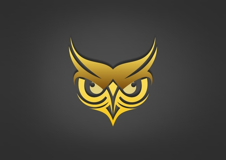 Owl business education icon