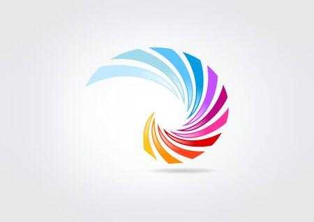 wings bird: swirl business corporate  icon