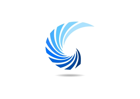 swirl, curl, business, wind, wing, corporate, icon design