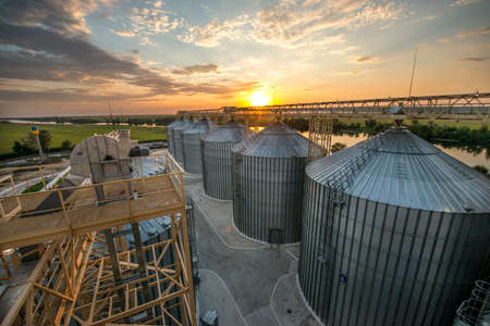 metal tanks for storage of grain (elevator)