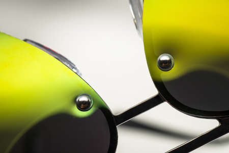 Sunglasses with green glasses, large