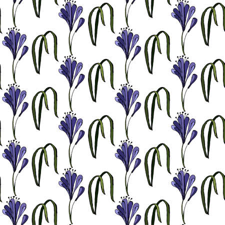 Vector illustration of purple blue flower agapanthus africanus for flower shops, invitations, tag and icon, inspirational cards. Flower background