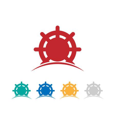 ship steering wheel: cruise logo