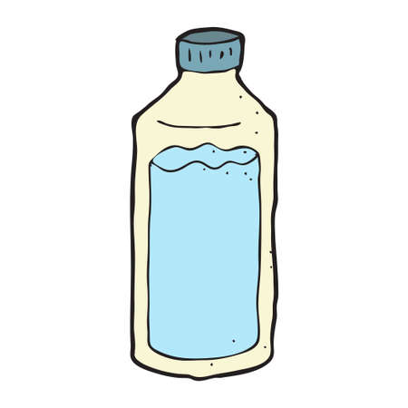 digitally drawn illustration design with theme of water bottle