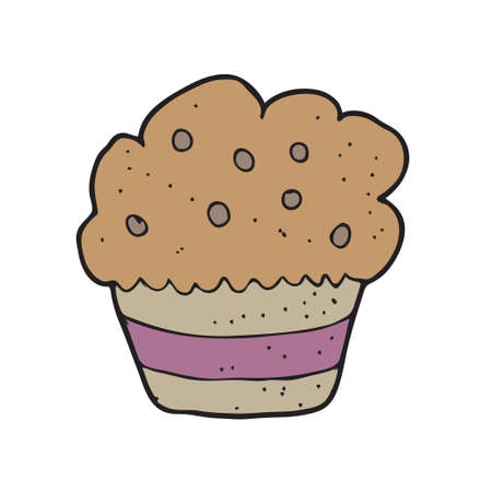 digitally drawn illustration design with theme of cup cake