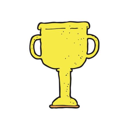 digitally drawn illustration design with theme of Trophy Иллюстрация