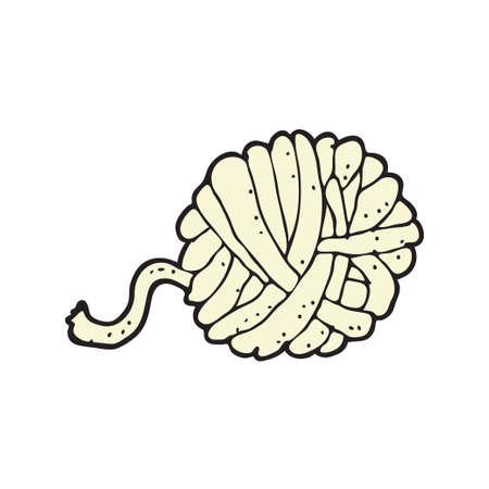 Digital gezeichnetes Illustrationsdesign mit dem Thema Wollgarn