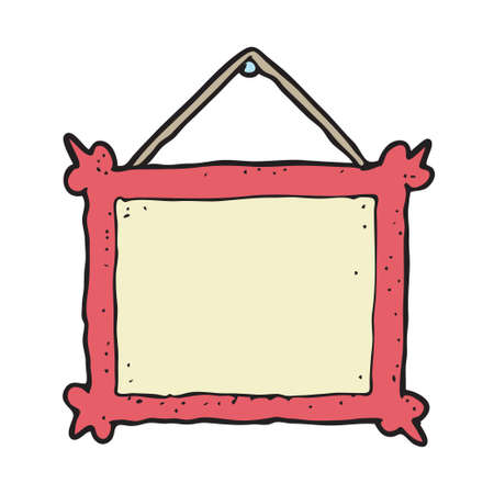 digitally drawn illustration design with theme of Photo frame