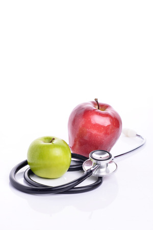 Concept for diet, healthcare, nutrition or medical insurance. Over white background Stock Photo
