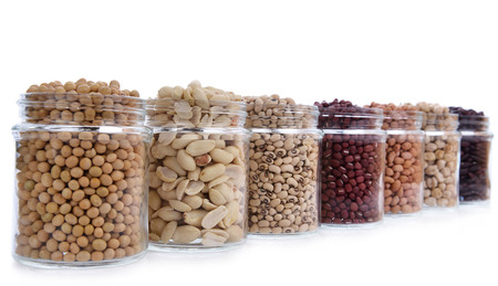 beans with isolated white Stock Photo