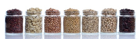group of beans Stock Photo