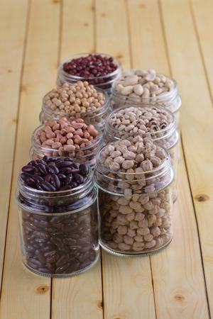 aduki bean: group of bean Stock Photo