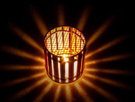 glows: Candle lantern glows a light star
