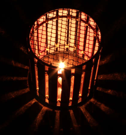 glows: lantern glows a star Stock Photo