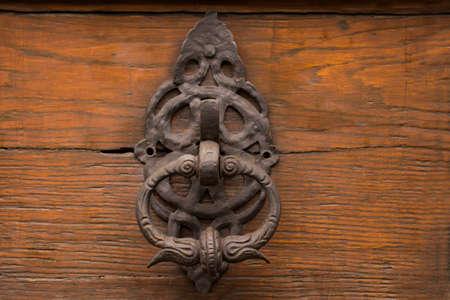 Forged Antique Doorknob. Antique ornamental Doorhandle