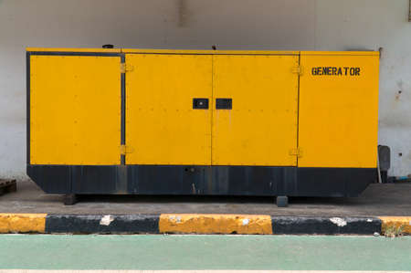 power generator: Yellow Electric Power Generator.