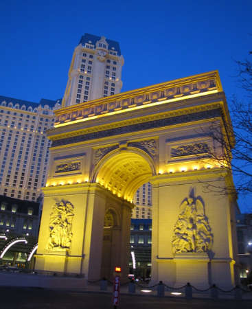 arc de triomphe las vegas around sunset  photo