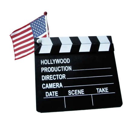 genera: the USA flag with movie board clip