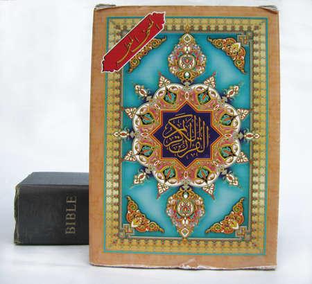 a bible beside a quran