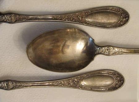 silverware art close up details