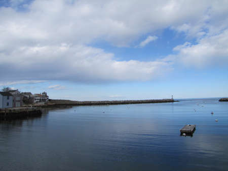 sea in blue cloudy sky Stock fotó