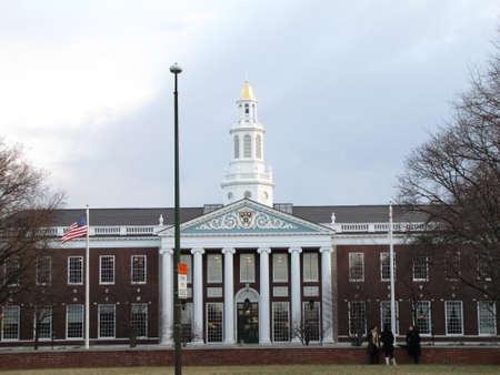 ivy league:  Harvard University campus - school of business
