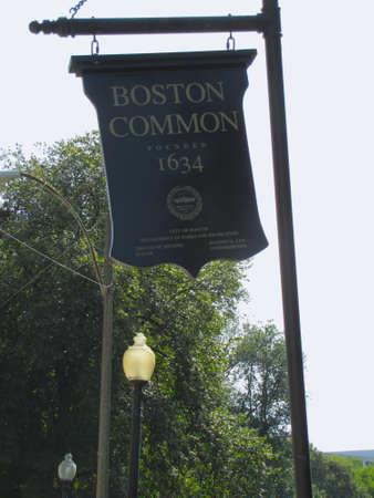 boston common: Boston Common park sign, Boston, MA Editorial