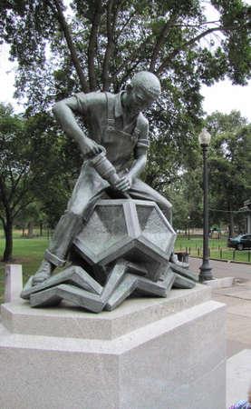 boston common: Statue to  work  in Boston Common, Boston, Ma , USA