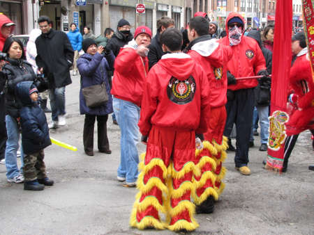 Chinatown, Boston during Chinese New Year celebration Editorial