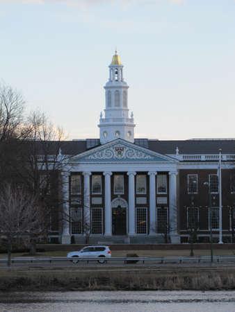 harvard university: Harvard University campus - school of business