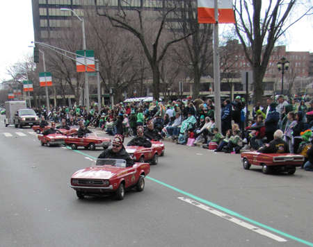 haven: Saint Patrick day parade in New Haven, CT, USA