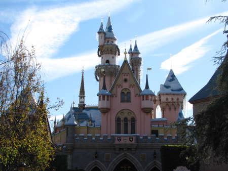 Disneyland Castle with Christmas decoration, 2010