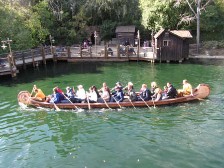 Native Americans who live on the banks of the Rivers of America, at Disneyland