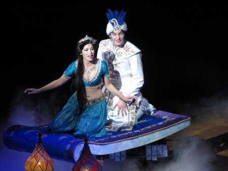 Aladdin in Disney play at Disneyland, California. USA