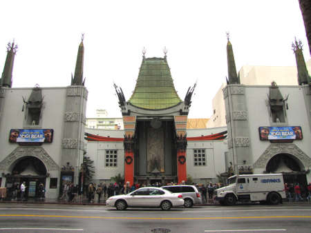 TCL Chinese Theater a famous cinema on the historic Hollywood Walk of Fame on Hollywood Boulevard Los Angeles California