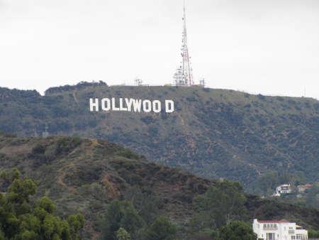 Famous Hollywood landmark in Los Angeles California Editorial