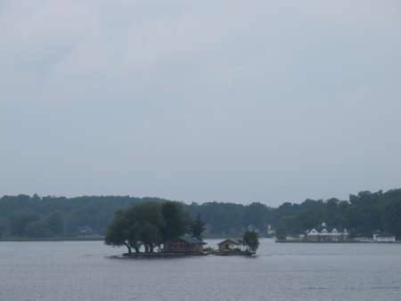 lawrence: Thousand Islands on Saint Lawrence River. NY June 2010