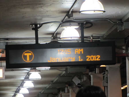 after midnight: the first after midnight of 2012 in Boston train