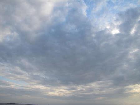 clouds during dusk time Banco de Imagens
