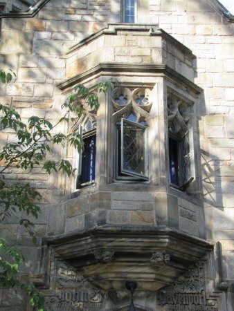 ivy league: Yale University gothic Window Stock Photo