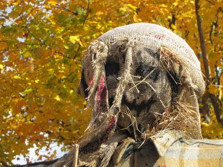 a scary scarecrow face